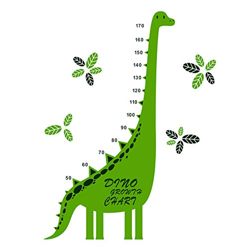 Fymural Growth Chart for Kids - Dinosaur Wall Decor Handing Ruler Height for Kid Room Baby Nursery Animal DIY Measure Decoration 43.3x70.5,Green -