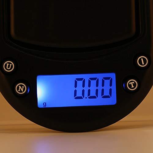 HoganeyVan Mini balance de poche num/érique 200g Pr/écision 0,01g Poids g//oz//poids sec//ct Mesure pour bijoux de cuisine Or