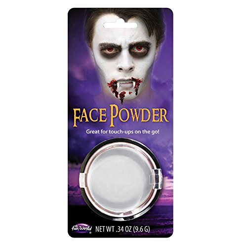 Fun World Unisex-Adult's Pressed Powder Compact Costume Makeup, White, -