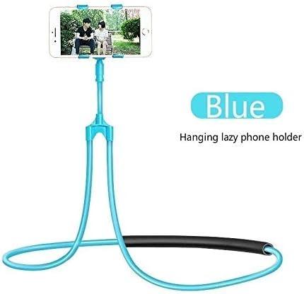 AKDSteel Smartphone Mount Desktop Neck Car Bed Holder Selfie Lazy Bracket Hanging Blue for Phone Accessories