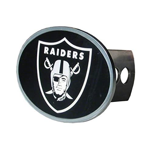 NFL Oakland Raiders Oval Hitch Cover, Class II & III - Trailer Hitch Cover