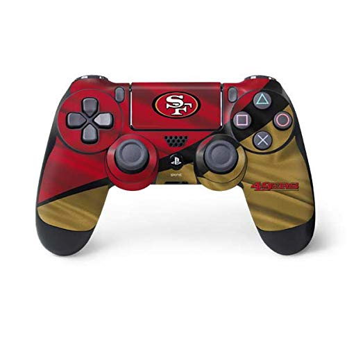 Skinit San Francisco 49ers PS4 Controller Skin - Officially Licensed NFL PS4 Decal - Ultra Thin, Lightweight Vinyl Decal Protective Wrap