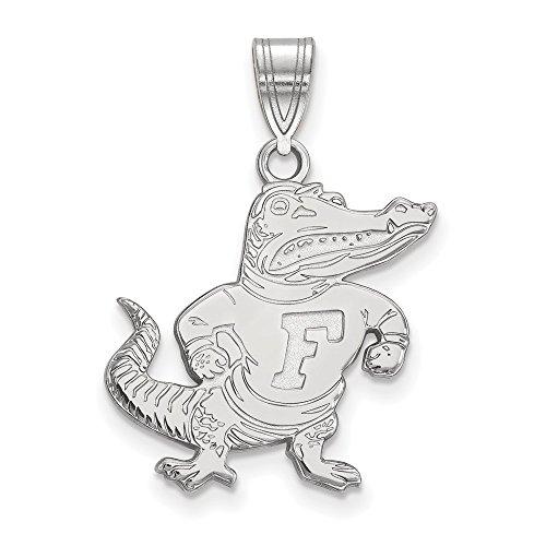14k White Gold LogoArt Official Licensed Collegiate University of Florida (UF) Large Pendant by Logo Art