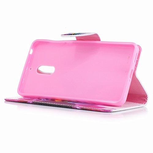 Yiizy Nokia 6 Custodia Cover, Petalo Design Sottile Flip Portafoglio PU Pelle Cuoio Copertura Shell Case Slot Schede Cavalletto Stile Libro Bumper Protettivo Borsa