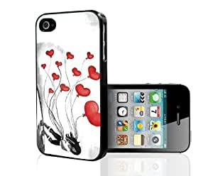 Valentines Balloons Hard Snap On Case (iPhone 4/4s)