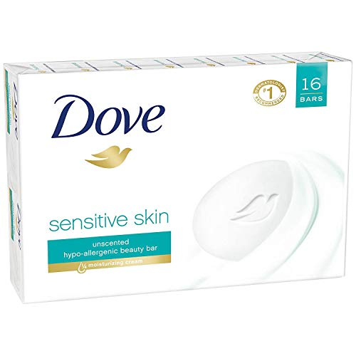 Dove Sensitive Skin Unscented 16-4 OZ Bar Soaps, 64 OZ