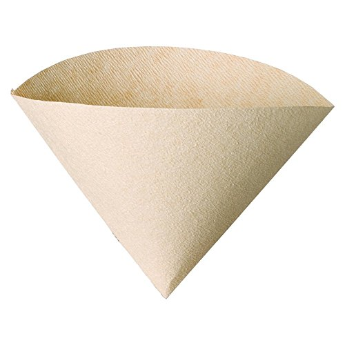 Hario V60 Paper Coffee Filters, Size 01, Natural, Untabbed