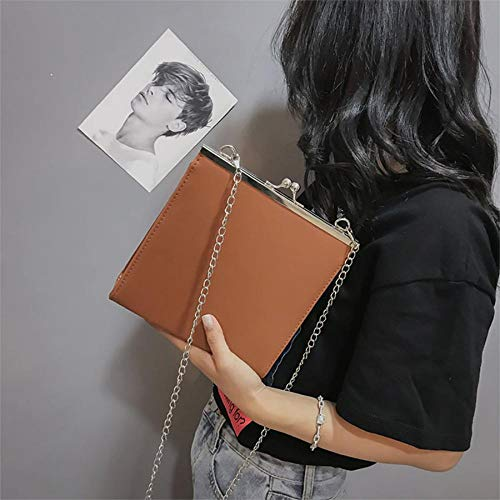 marrón Mujer para Talla Bolso Cruzados única Xixik BgqIw8RBx