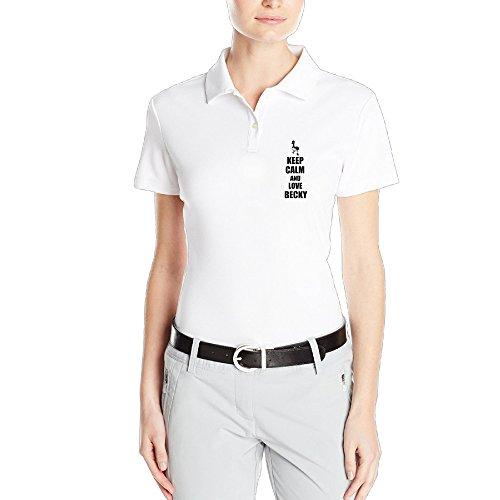 Handson Women's Cute Bird Beck Design Personality Business Affairs Tee Size XXL White