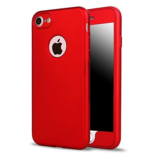 Price comparison product image iPhone 6 / 6s Full Body Slim Case-Auroralove Red Sleek Soft TPU Front and Back Cover Shockproof Anti-Scratch Screen Protector Case for iPhone 6 / 6s 4.7 Inch