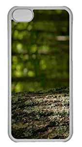 taoyix diy Customized iphone 5C PC Transparent Case - Tree Trunk Personalized Cover