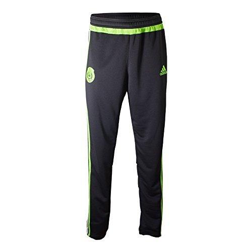 Adidas Mexico Soccer Training Pant (Black, Semi-Solar Green) Sz. Medium