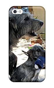 6799850K63415708 High Impact Dirt/shock Proof Case Cover For Iphone 5/5s (irish Wolfhound Puppies)