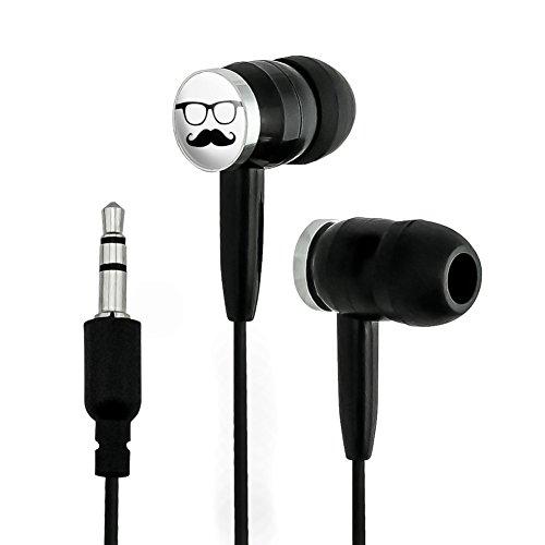 Hipster Glasses Mustache Novelty In-Ear Earbud Hea...