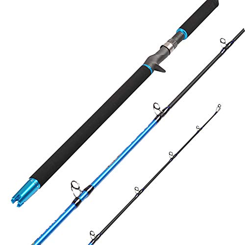 Fiblink 6' Saltwater Jigging Casting Rod 2-Piece Graphite Boat Fishing Rod (30-50lb/50-80lb/30-80lb) (50-80-Pound)