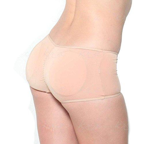 Butt Booster - Super Low Rise Lift the Hip Pants (M, Beige)