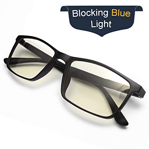 Blue Light Blocking Glasses,Computer Glasses for Women/Men,SWEGUARD Anti UV Glare Blue Light Filter Reading Glasses for Blocking UV Headache [Anti Eye Eyestrain] Anti Blue Light Lenses-Black