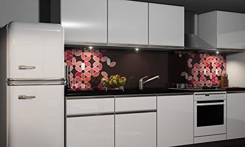 Film autocollant décoratif pour cuisine - Protection anti-éclaboussures, H: 60cm x B: 300cm