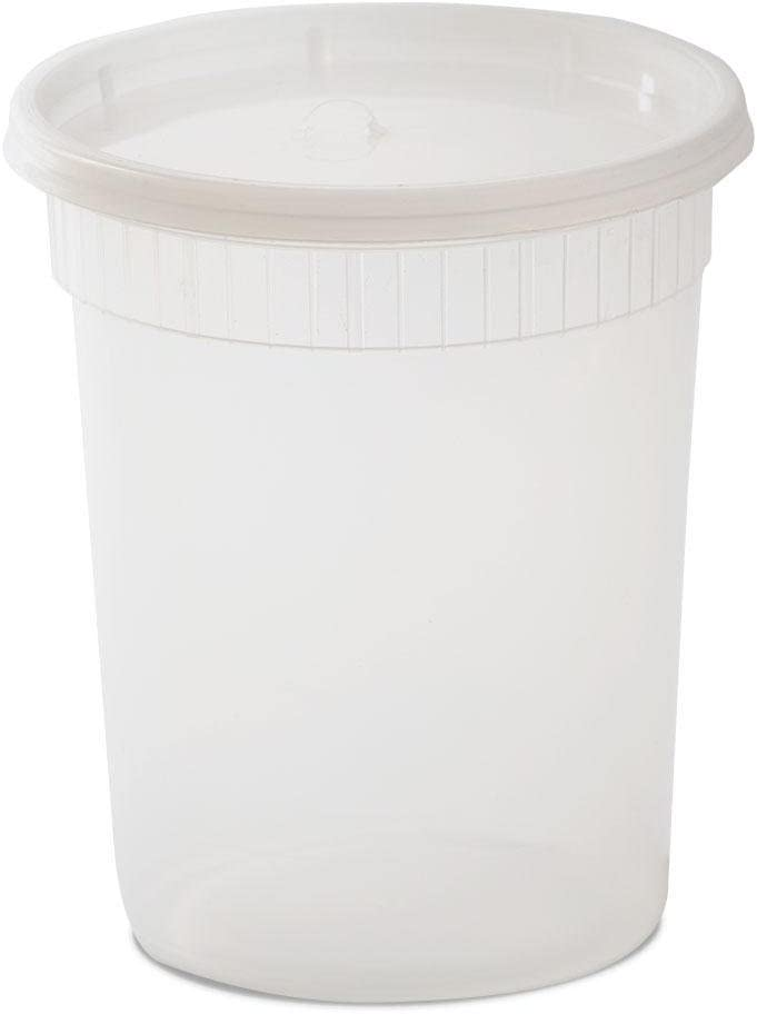 YW Plastic Soup/Food Container with Lids, 32 oz, 240 Piece