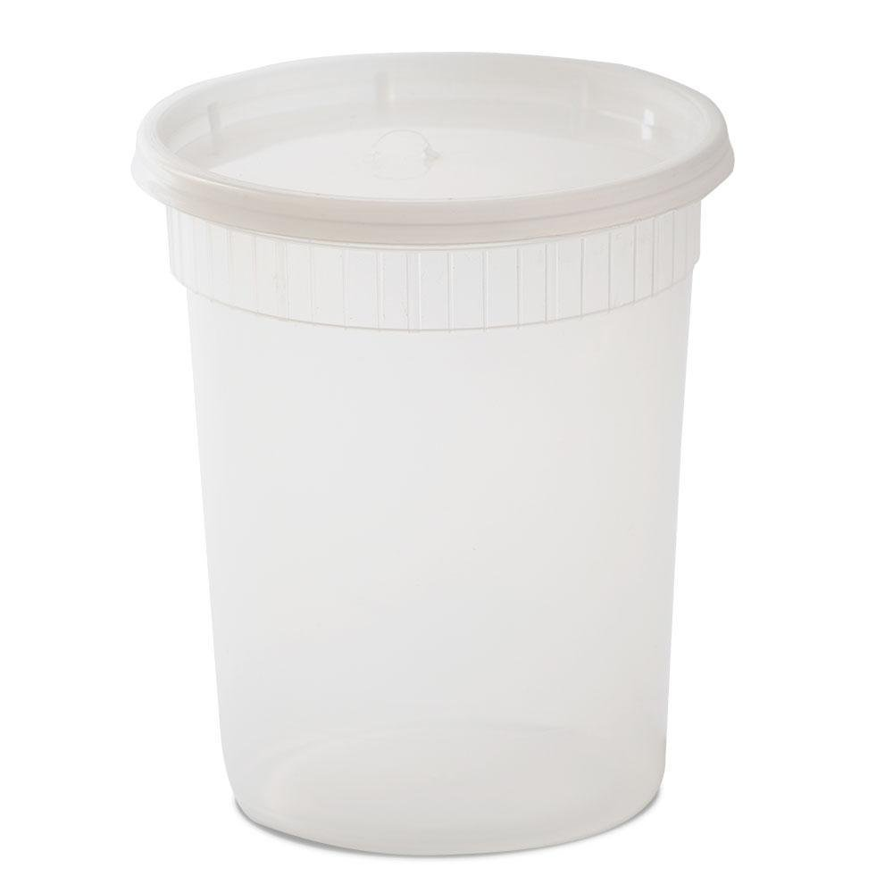 YW Plastic Soup/Food Container with Lids, 32 oz, 240 Piece by YW