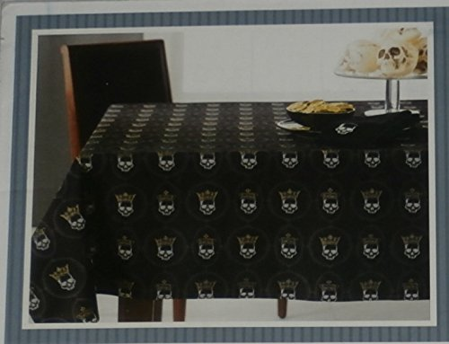 Haunted Heraldry Oblong Halloween Skulls Tablecloth 60