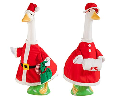 Mr and Mrs Santa Claus Goose Outfit, Red 2 Pcs -