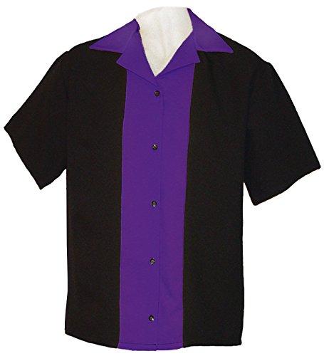 Ladies Retro Bowling Shirt 50's Style ~ Classic 57 Womens Bowling Shirts by Tutti (X L) (Classic Bowling Shirt)