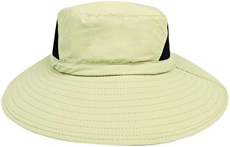 para pesca actividades al aire libre senderismo con correa para la barbilla para adultos Sombrero de ala ancha Anglerh/üte con/protecci/ón solar UPF 50+ sombrero,/unisex