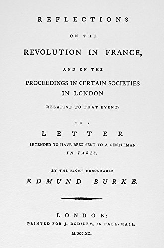 Burke Reflections 1790 Ntitle Page Of Edmund BurkeS Reflections On The Revolution In France 1790 Poster Print by (18 x 24)