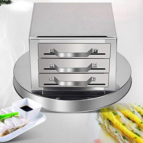 Steamers, 3 Layer Stainless Steel Steamer Drawer Steaming Machine Rice Noodle Rolls Machine Kitchen Food Spare Drawers Pull Rice Rolls Cooker Baking Container Cookware Set, USA STOCK