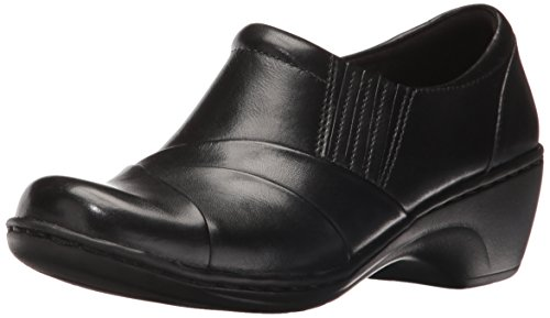 CLARKS Women's Channing Essa Slip-on Loafer, Black, 10 M US by CLARKS
