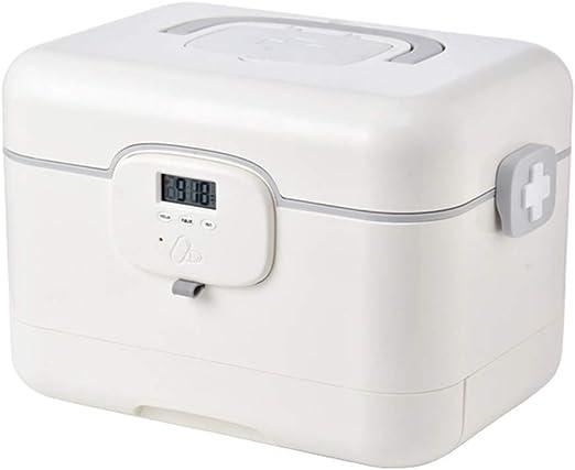 Dispensador automático de pastillas, 5 alarmas por día, caja de almacenamiento de medicina inteligente, caja de almacenamiento portátil de primeros auxilios, botiquín de medicina: Amazon.es: Hogar