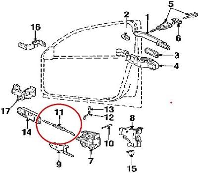 /2005 frontal derecho o izquierdo 1996/ Passat B5/puerta Lock Latch Cable Bowden