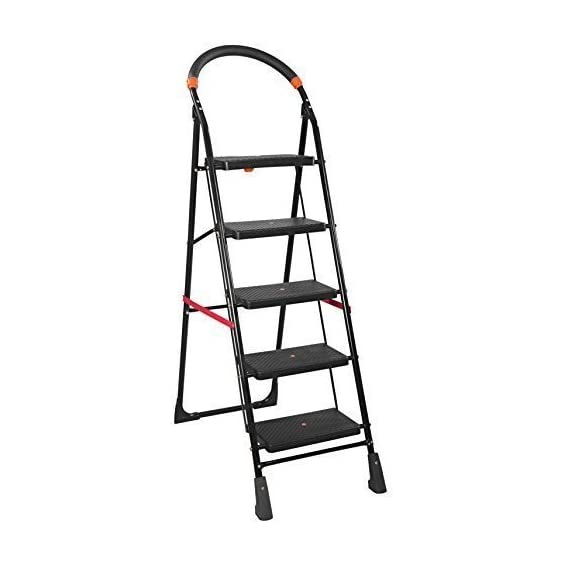 PARASNATH Back Heavy Folding Ladder With Wide Steps Milano 5 Steps 5.2 Ft