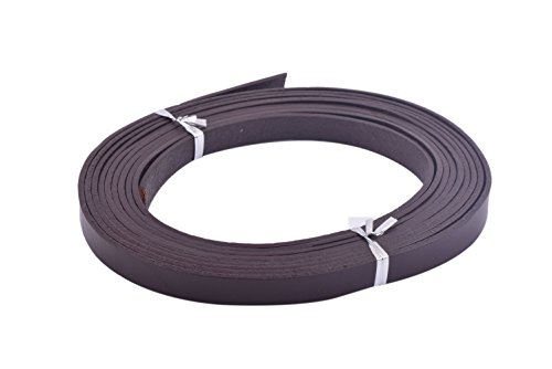 2mm Dark Brown Leather Necklace (KONMAY 3 Meters 10.0x2.0mm Dark Brown Soft Flat Real Cowhide Leather Cord/straps)