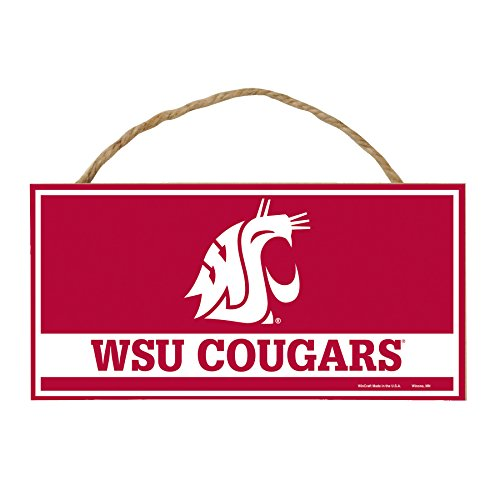 WinCraft NCAA Washington State Cougars Hardboard Wood Signs with Rope, 5 x 10-Inch, Multi