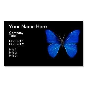 Insecte De Vol Bleu Papillon Carte Visite Standard