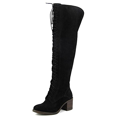 Lucky Brand Women's Riddick Lace-Up Over-The-Knee Boots Wome