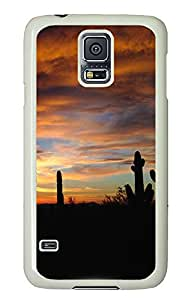 Samsung Galaxy S5 Case,Samsung Galaxy S5 Cases - Landscapes sunset 2 Custom Design Samsung Galaxy S5 Case Cover - Polycarbonate¨CWhite