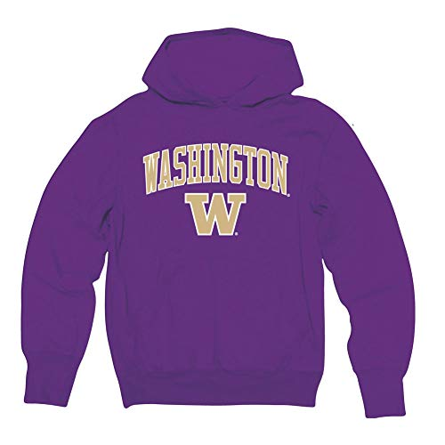 Elite Fan Shop Washington Huskies Hooded Sweatshirt Arch Purple - ()
