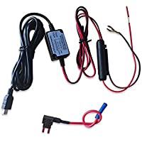 Wocst Car Camera Hard Wire Kit- Mini USB Dash Cam 10 Foot Hardwire and Fuse Kit for Dash Camera Power Supply Car Charger GPS Car DVR Power Box