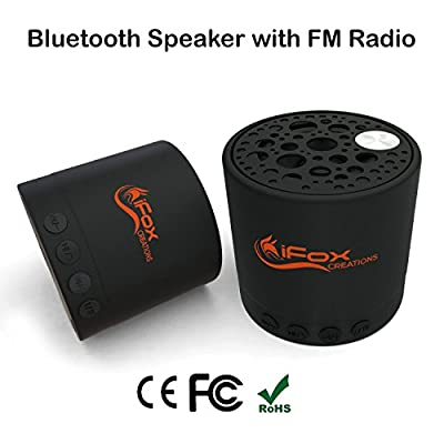 iFox iF010 Bluetooth Speaker - Wireless, SD Card, FM Radio Tuner, AUX Speakerphone Ultra Portable - Pairs with devices - Indoor Outdoor