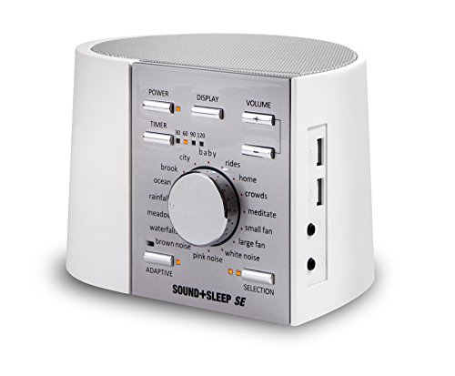 Sound+Sleep SE Special Edition High Fidelity Sleep Sound Machine with Real Non-Looping Nature Sounds, Fan Sounds, White, Pink and Brown Noise, and Adaptive Sound Technology