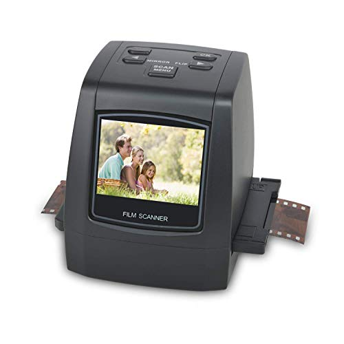 DIGITNOW 22MP All-in-1 Film & Slide Scanner, Converts 35mm 135 110 126 and Super 8 Films/Slides/Negatives to Digital JPG Photos, Built-in 128MB Memory, 2.4 LCD Screen ()