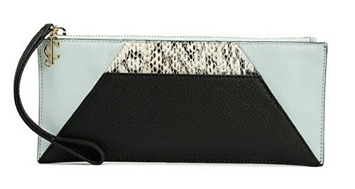 Juicy Couture Mist Leather Clutch- Black/Azure