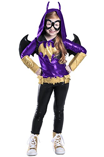 Princess Paradise DC Super Hero Girls Premium Batgirl Costume, Purple/Black/Gold, Small (Purple Batgirl Costume)