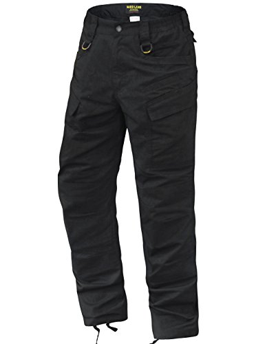 HARD LAND Men's Lightweight Tactical Pants Waterproof Ripstop Work Cargo Pants BDU Military Trousers Charcoal Grey Size 34W×32L (Heavy Duty Work Trousers With Knee Pads)