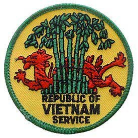Us Military Embroidered Iron On Patch   Vietnam War Collection   Republic Of Vietnam Service Applique