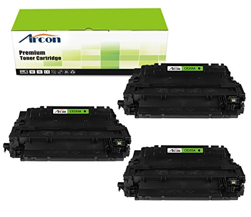 Price comparison product image Arcon 3-Packs 55A CE255A Compatible Toner Cartridge for LaserJet Pro MFP M521dn Printer Black
