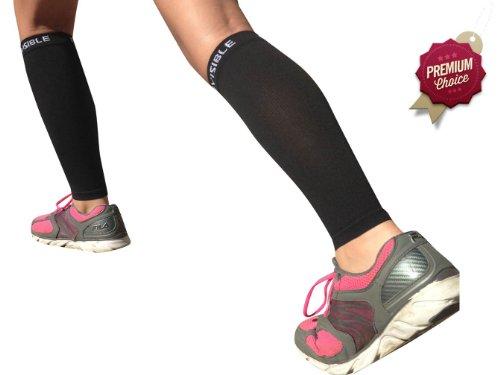 Calf Compression Sleeve - BeVisible Sports Hommes et Leg Compression manches de la femme - Vrai compression graduée - Calf Guard périostite tibiale manches - Idéal pour Basket-ball, Courir, Baseball, marche, vélo, de la Formation et de voyage - stimule la